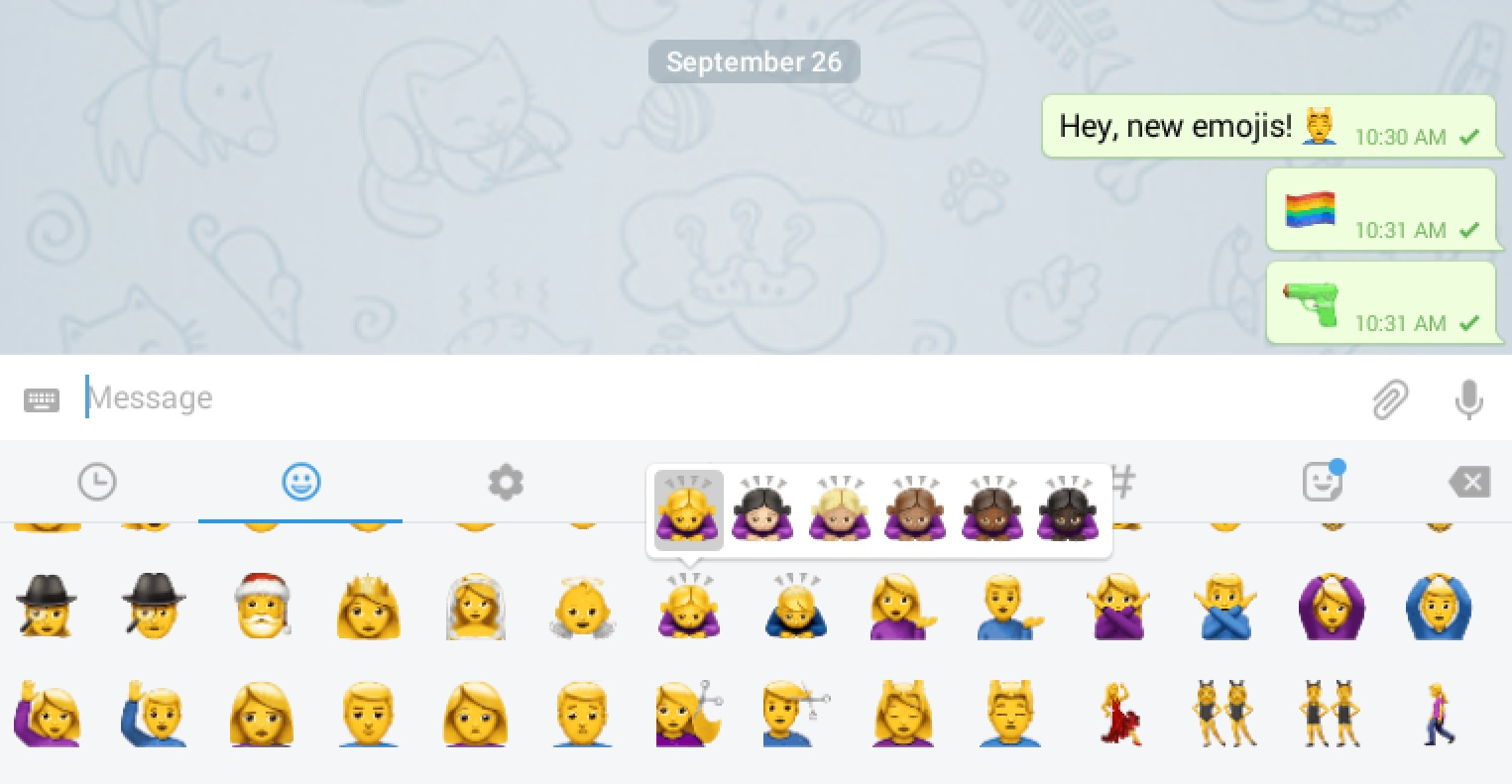 Telegram allows custom stickers to be uploaded and assigned to certain emojis stickers can be assigned a relevant emoji to apear as an emoji tooltip