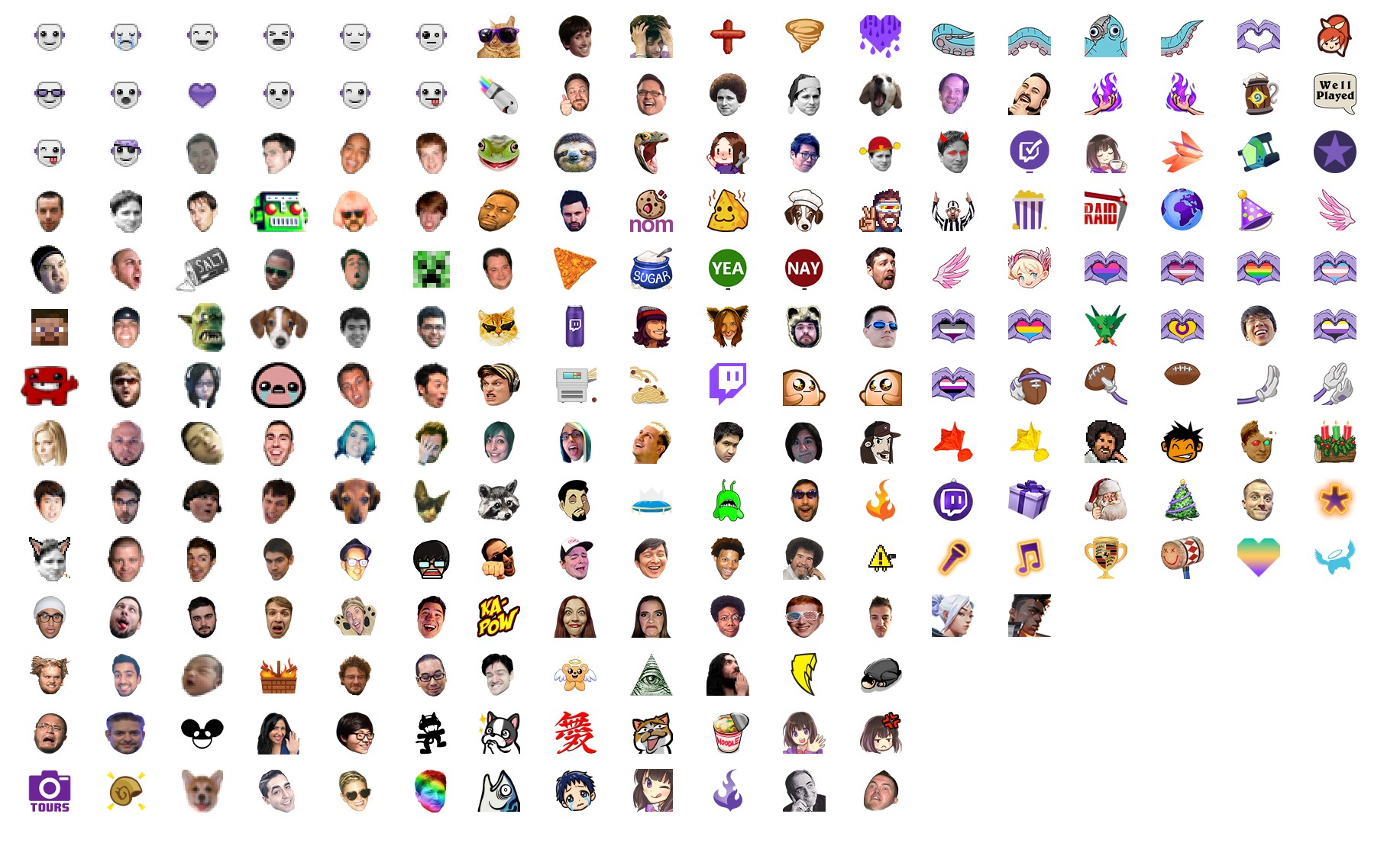 Subscribe on Twitch: emotes