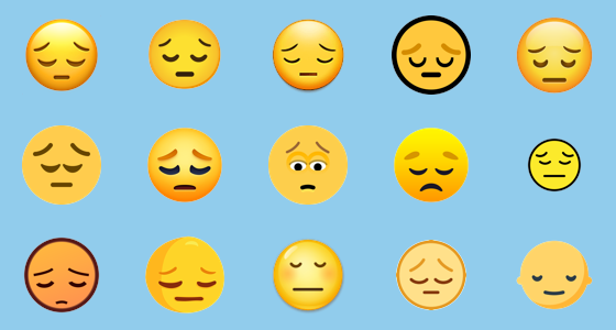 Smiley copy paste sad Slanted Smiley