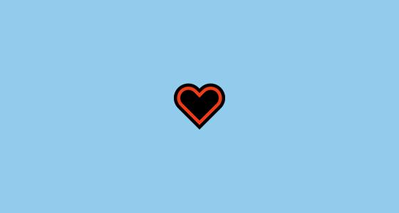 Outline heart emoji black Star Symbols