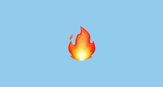 Fire Emoji on Apple iOS 111
