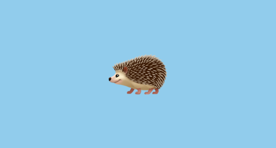 hedgehog emoji