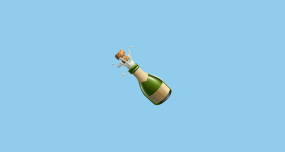 Bottle With Popping Cork Emoji
