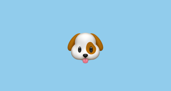 Dog Face Emoji - photo#11