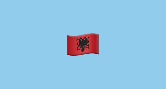 Flag For Albania Emoji - Albania flag