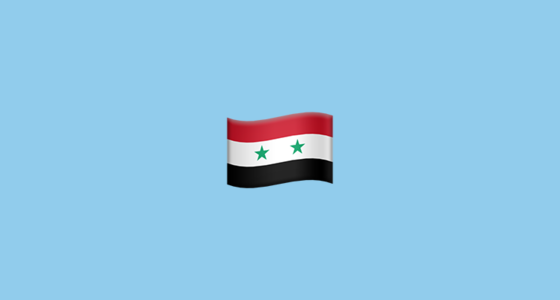 Flag For Syria Emoji - Syria flag