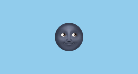 new moon with face emoji