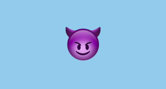 smiling face with horns emoji