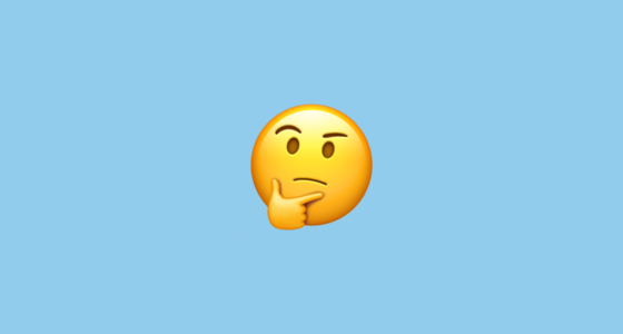 Thinking Face Emoji Questioning Face