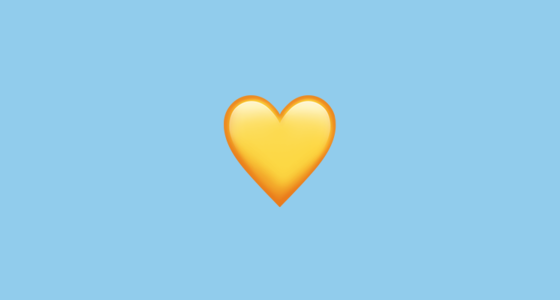 Yellow Heart Emoji Yellow Heart Emoji