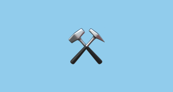 Hammer And Pick Emoji