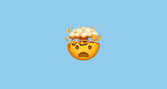 Shocked Face With Exploding Head Emoji