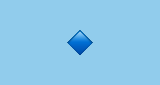 Small Blue Diamond Emoji