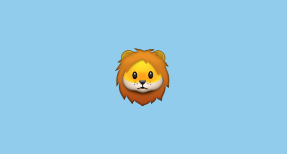 Lion Face Emoji on Apple iOS 9.1