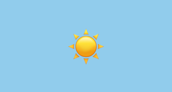 ☀️ Sun Emoji On Apple Ios 10 2