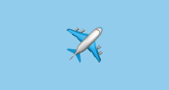 �� airplane emoji