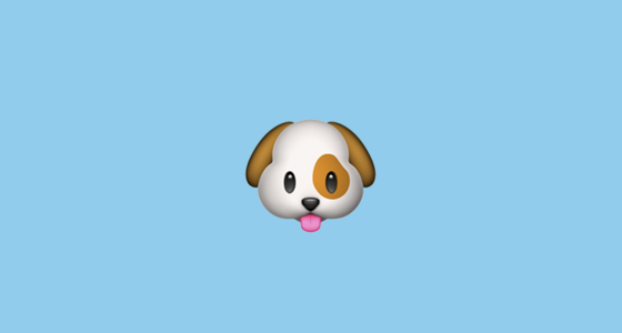 Dog Face Emoji - photo#10