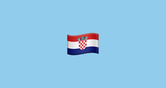 Flag For Croatia Emoji