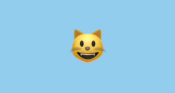 smiling cat face with open mouth emoji