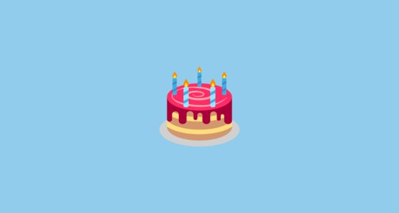 Birthday Cake Emoji on EmojiOne 20