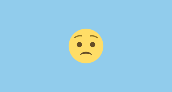 Worried Face Emoji On Emojione 2 1