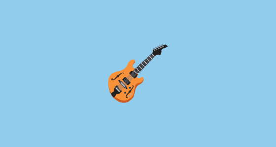 Guitar Emoji On Facebook 2.1