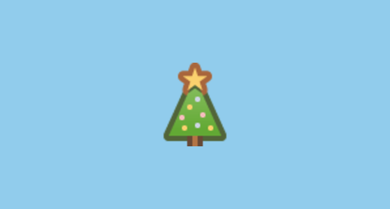 how to add a christmas tree emoji on facebook