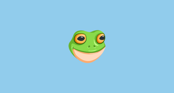 Frog Face Emoji On Messenger 1 0