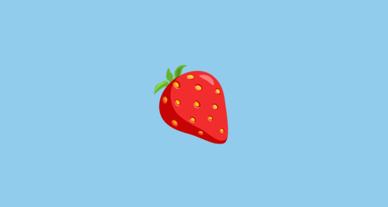 Strawberry Emoji On Messenger 1 0