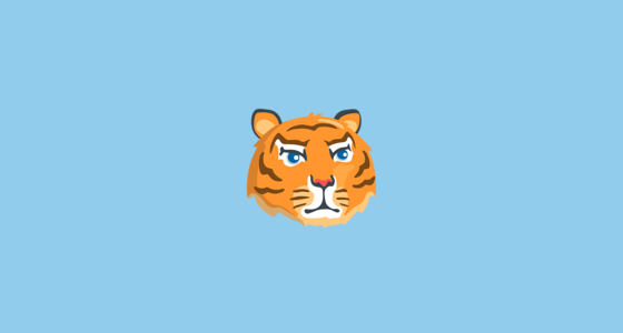 tiger face emoji on messenger 1 0