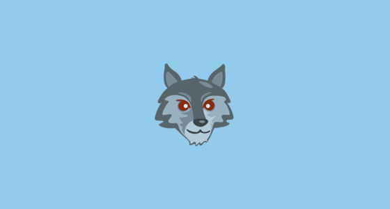 Wolf Face Emoji On Messenger 1 0