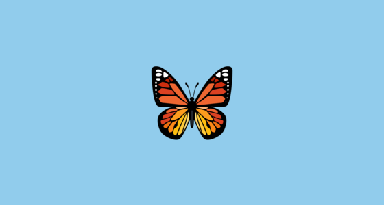 butterfly emoji on facebook 2 0