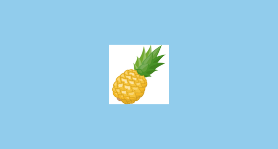 pineapple emoji on facebook 2 0