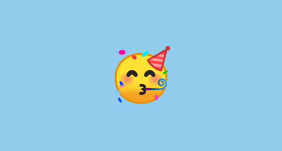 face with party horn and party hat emoji