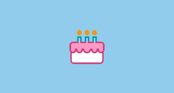 Birthday Cake Emoji on HTC Sense 7