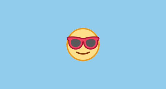 Smiling Face With Sunglasses Emoji On Htc Sense 7