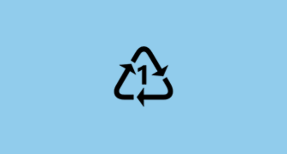Recycling Symbol For Type 1 Plastics Emoji