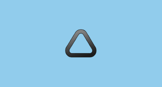 Triangle With Rounded Corners Emoji