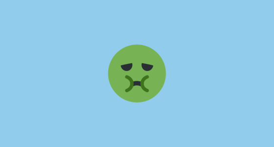 🤢 nauseated face emoji on twitter twemoji 2 1