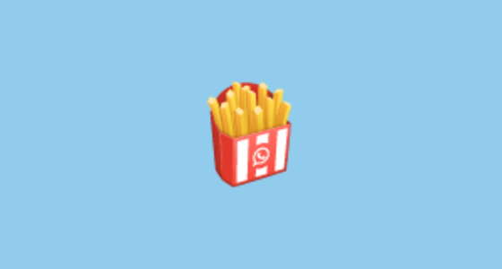 french fries emoji on whatsapp 2 17