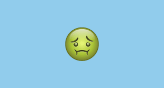 🤢 nauseated face emoji on whatsapp 2 17