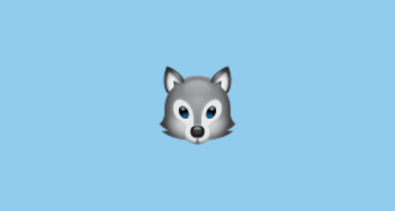 Wolf Face Emoji On Whatsapp 2 17
