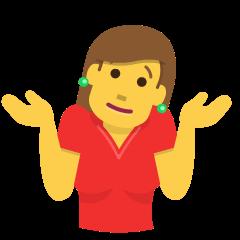 IMAGE(https://emojipedia-us.s3.amazonaws.com/source/skype/289/woman-shrugging_1f937-200d-2640-fe0f.png)