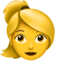 Blond-Haired Woman on Apple iOS 11.1