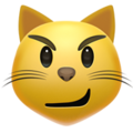 Cat Face With Wry Smile on Apple iOS 11.1