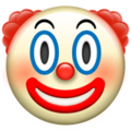 Clown Face on Apple iOS 11.1
