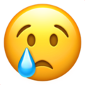 Crying Face on Apple iOS 11.1