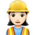 Woman Construction Worker: Light Skin Tone on Apple iOS 11.1