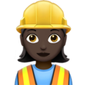 Woman Construction Worker: Dark Skin Tone on Apple iOS 11.1