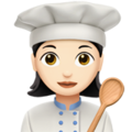 Woman Cook: Light Skin Tone on Apple iOS 11.1